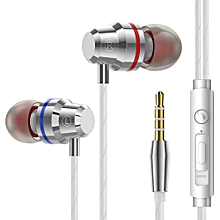 Metal Earphone Ear-in Wire-controlled Earplug Factory for Android Mobile Phone Universal Tuning