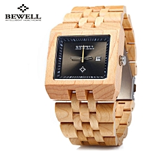 ZS - W017A Wood Men Watch Imported Quartz  Date Display-MAPLE WOOD