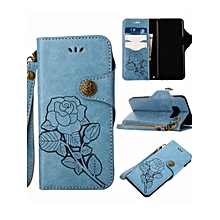 Samsung S9/S9 Plus/S8/S8 Plus/Note 8/S7/S7 Edge/J7 Prime/J5 Prime Phone Cover Flower Pattern Durable Phone Case____SAMSUNG J32016____blue