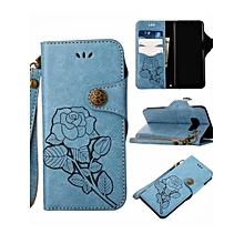Samsung S9/S9 Plus/S8/S8 Plus/Note 8/S7/S7 Edge/J7 Prime/J5 Prime Phone Cover Flower Pattern Durable Phone Case____SAMSUNG J32016____blue