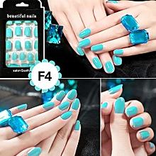 24 Piece Fake Nails Beautiful Nail Summer False Nail Beauty Solid Color Nail SMD