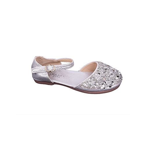 16353bac08ac Fashion Baby Girl s Closed Toe Flat Outdoor Sandal 2019 Wedding Casual Shoes -Silver