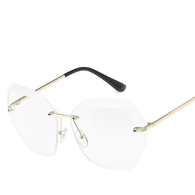 7422883cc Luxury Transparent Gradient Sun Glasses For Women Elegant Rimless Sunglasses  Women Brand Designer Retro Female Ladies