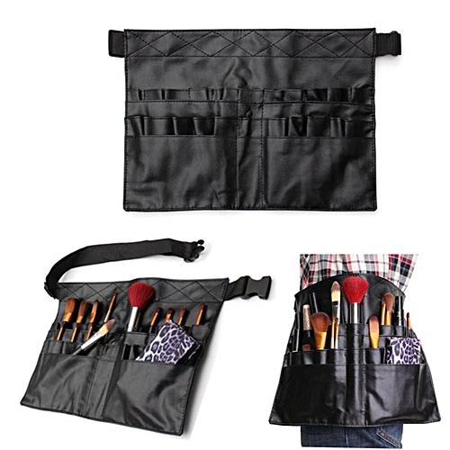 Generic Black Two Arrays Makeup Brush Holder Professional PVC Apron Bag  Artist Belt Strap Protable Make Up Bag Cosmetic Brush Bag   Best Price  0865052ebf073