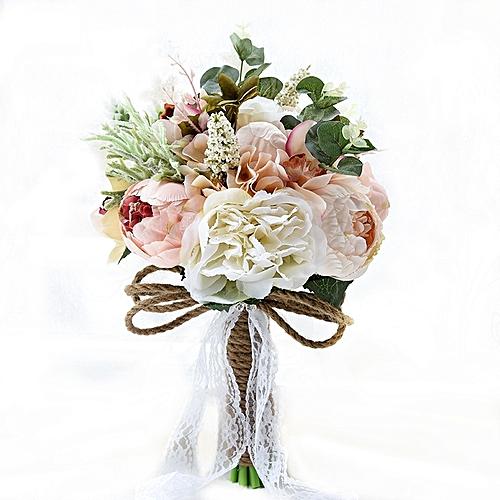 Buy generic wedding holding flower bridal bouquet accessories wedding holding flower bridal bouquet accessories bridesmaid party wedding decoration supplies diameter 24cm junglespirit Images