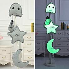 Creative Luminous Star Moon Ghost Light Bulb Plush Throw Pillow Noctilucence Cushion Gifts