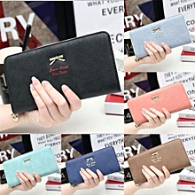 Lady Bow Women's Wallet Coin Purses Brand Card Holder Magic Wallet Zipper Female Long Purse Clutch PINK