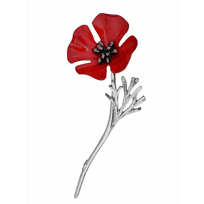 Buy sunshine new unisex 1pc vintage style red poppy flower brooch new unisex 1pc vintage style red poppy flower brooch lapel pin clothes accessory silver mightylinksfo