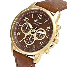 Fovibery Unisex Casual Geneva Faux Leather Quartz Analog Wrist Watch Watches