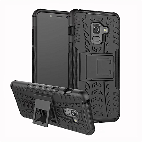 new concept 84801 eae8c Case For Samsung Galaxy A5 2018 Cover Case PC+ Silicone Armor Back  Shockproof Phone Bags Cases For Samsung A5 2018 A530 (Black)