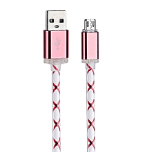 LED Light Micro USB Charger Cable Charging Cord For Samsung galaxy s7 Edge RG-Red