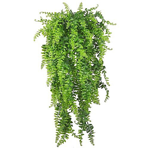 Generic Plants Vines Fern Persian Rattan Fake Hanging Plant Faux Boston Ferns Flowers Vine Outdoor Plastic For Wall Indoor Baskets