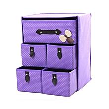 1 Set Moisture-proof Large Space Clothes Organizer Boxes - Purple
