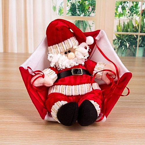 Santa Claus Christmas Home Ceiling Decoration Parachute Doll Hanging Pendant Toy Red Snowman