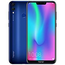 Huawei Honor 8C, Dual 4G, 4GB+32GB, Dual AI Back Cameras, 4000mAh Battery, Face ID & Fingerprint Identification, 6.26 inch EMUI 8.2 (Android 8.1)  Qualcomm Snapdragon 632 Octa Core, 4 x Kryo Gold 1.8GHz + 4 x Kryo Silver 1.8GHz, Network: 4G(Blue)