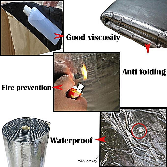 10Mm Automotive Exhaust Muffler With Sound Insulation And Heat Shield 100Cm  X 40Cm
