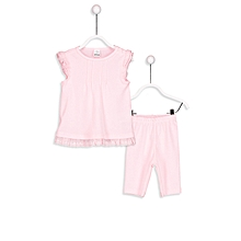 Pink Fashionable T-shirt&Tight Set