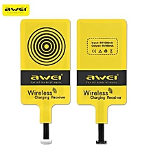 Micro USB Qi Wireless Charging Transmitter Receiver Coil For Android Mobile Phone ( Narrow-interface Up ) - Yellow