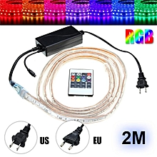 Waterproof 5050 SMD RGB 60 LEDs/M Flexible Tape Rope Strip Light 220V
