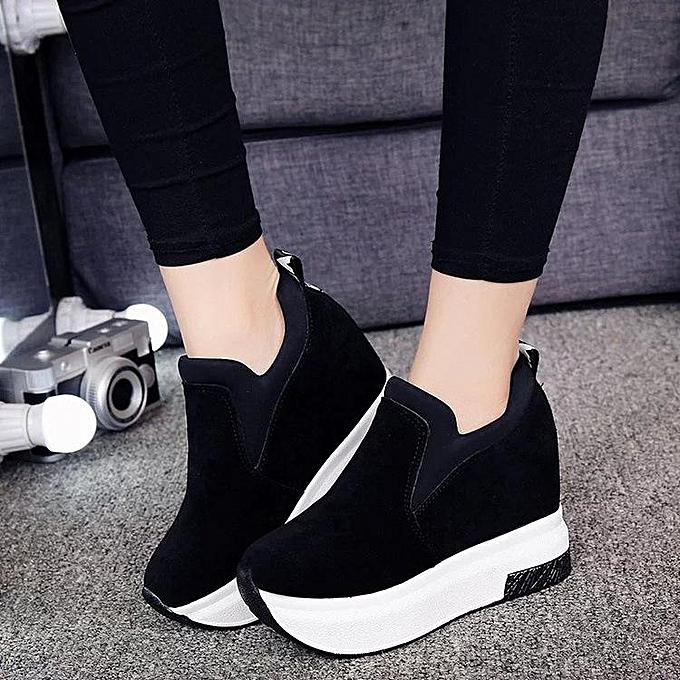 a7d0a1b8d9bc Women s Platform Hidden Wedge High Heels Ankle Sneakers Walking Casual Shoes -EU