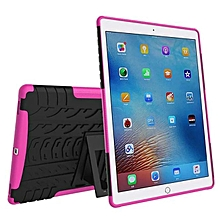 For iPad Pro 9.7 Hybrid Tough Hard Stand Cover Case Stand Pen Holder New Hot-Hot Pink