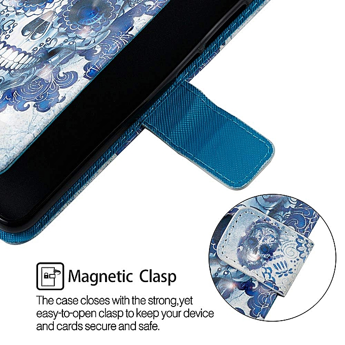 Aiyze Compatible with Samsung Galaxy A10 Case 2019, 3D Leather Wallet Heavy  Duty Full Body Protective Phone Cover Credit Card Slot Magnetic Closure
