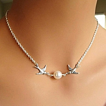 3Pcs Eye-catching Delicate Women's Fashion Charm Jewelry Pendant Chain Pearl Short Clavicle Necklace