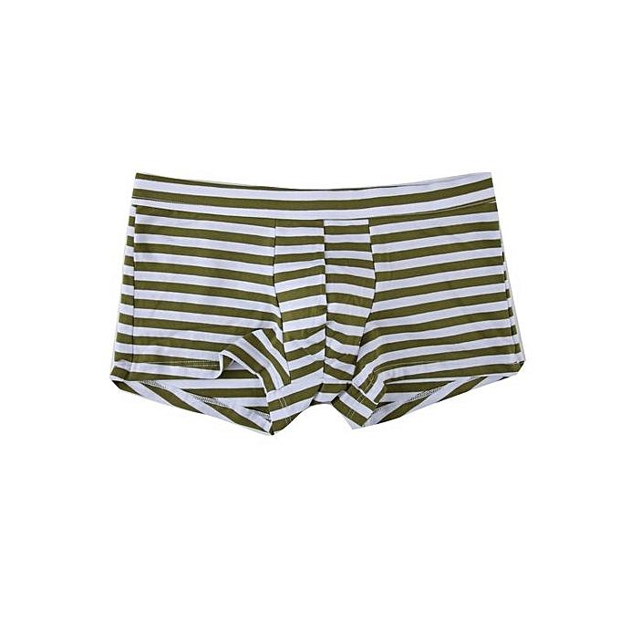 c8f07b29a Men s Underwear Intimates Sexy Mens Stripe Flat Angle Underwear Briefs  Shorts Pouch Soft Underpants   Yellow