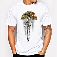 Summer New Men 's Tops Personalized Printing Fashion Round Neck Short - Sleeved T - Shirt
