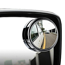 Car Vehicle Blind Spot Mirror Rear View Mirrors HD Convex Glass 360 Degree View Adjustable Mirror Silver