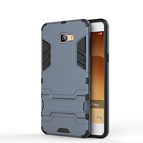 huge discount 70ffe 05af5 Hard Back Cover For Samsung Galaxy C9 Pro / C9pro / C9000 Phone Case  Built-in Stand Mobile Phone Protective Shell
