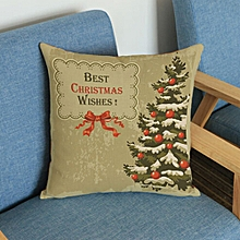 Christmas Tree Printing Dyeing Sofa Bed Home Decor Pillow Cover Cushion Cover E