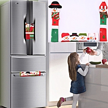 3 in 1 Christmas Style Cloth Fridge Microwave Oven Door Handle Cover Set, Size: 23*14cm