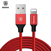 Yiven Cable 8 Pin USB Data Charging Braided Wire 1.8M - Red
