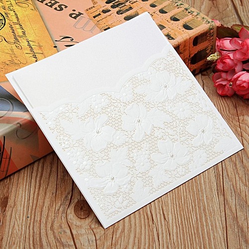 Wedding invitation cards kit with envelopes, seals,blank inner page