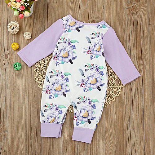 64425894e50f MUYI Newborn Infant Baby Kids Girls Floral Long Sleeve Romper Jumpsuit  Clothes Outfit