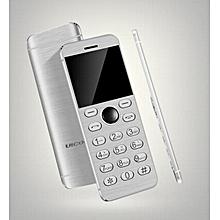 Mini Phone Metal Ultra thin Bluetooth 2.0 Dialer MP3 Dual SIM Card Mini Phone 1.54Inch Phone-white