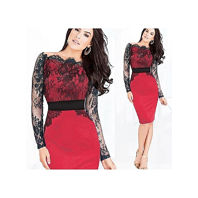 be6787a3012 Elegant Women Floral Lace Bodycon Summer Dress Ladies Office Work Party  Sheath Pencil Dresses Tunic 2017