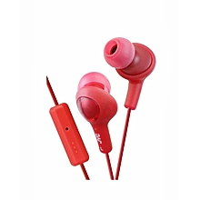HA-FR6 - Gumy Plus Inner Ear Headphones - Rasberry Red