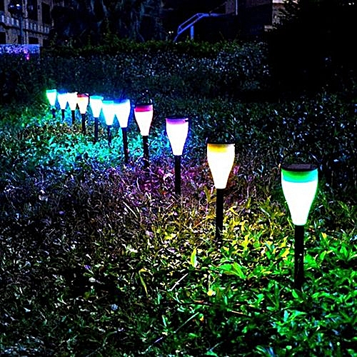 Generic Gogousd 6pc Solar Path Lights Color Changing Waterproof Garden