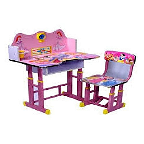 Delicieux Generic Kids Study Table And Chair Set For Girls / Computer Table Chair For  Kids, Study Table And Chair Set   Pink