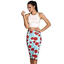 ACEVOG Stylish Ladies Women Casual Print Knee Length Sexy Pencil Skirt ( Multicolor )