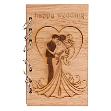 Classic Kraft Paper Wooden Notebook Portable Creative Love Diary Book Gift D