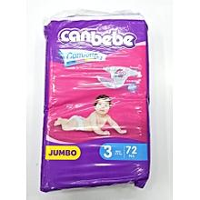 Jumbo - Size 3 (4 -9 KG), (Count 72) .