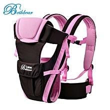 Multipurpose Adjustable Buckle Mesh Wrap Baby Carrier Backpack-Pink