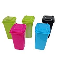 Creative Mini Wheel Trash Bin Recycle Can Pen Pencil Holder Stationery Organizer