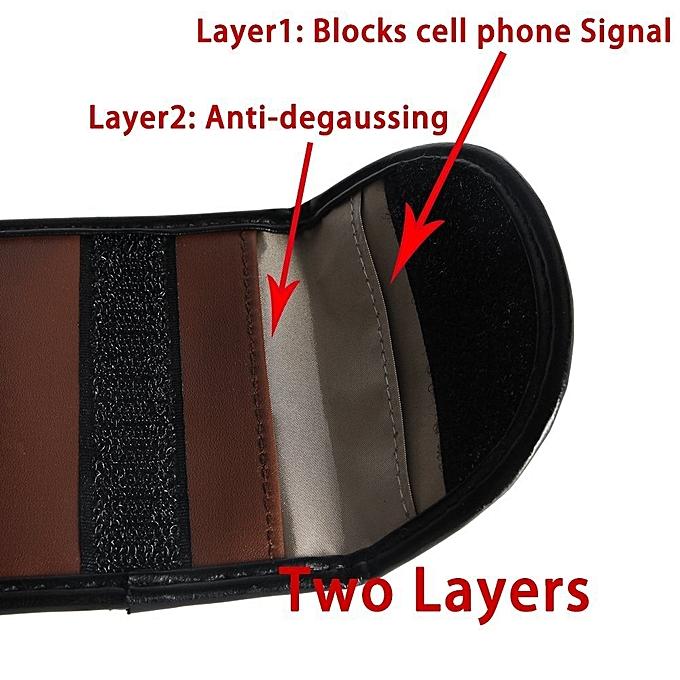 2 x Car Key Signal Blocker Case RF Keyless Entry Fob Guard Pouch Faraday  Bag Antitheft Lock Devices Security WIFI/GSM/LTE/NFC/RF Blocker Bag, Pink