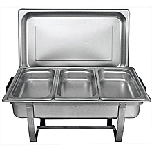 High Quality Stainless Steel Chafing Dish- 3 Trays  - Silver