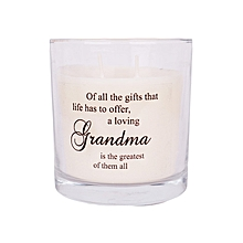 White scented candle: Off all the things that life has to offer... GrandMa