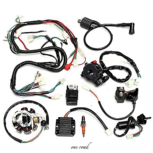 generic complete electrics wiring harness for chinese dirt bike atv quad  150-250 300cc